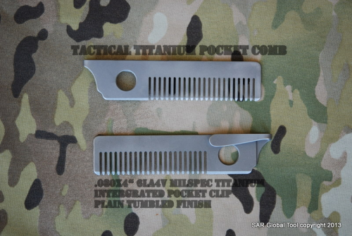 Tactical Titanium pocket Comb/Plain