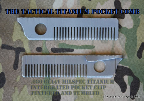 Tactical Titanium pocket Comb/Textured